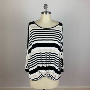Anthropologie Pure + Good Stripe Knit Top